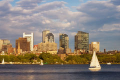 Sailing on the Charles River Royalty Free Stock Photo