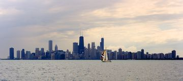 Sailing in Chicago Stock Photography