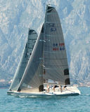 Sailing Class esse 8.50. From 25th to 27th July European Open Malcesine Sailing Class esse 8.50 Malcesine - Lake Garda - italy stock images