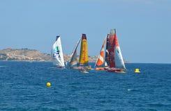 Sailing Close Yacht Racing Royalty Free Stock Photo