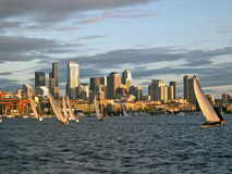 Sailing Close to Seattle Royalty Free Stock Photography