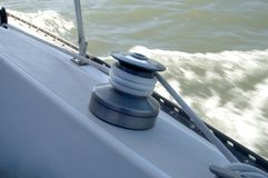 Sailing Close Winch Stock Photography