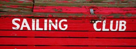 Sailing Club Sign Royalty Free Stock Photo