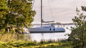 Sailing at the coast of Sweden Stock Images