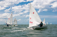 Sailing competition Royalty Free Stock Photos