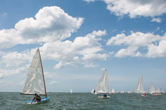 Sailing competitors Royalty Free Stock Photography