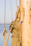 Sailing cord. Cables for a sail-turn Stock Photos