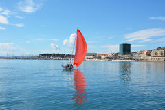 Sailing in croatia Stock Photo