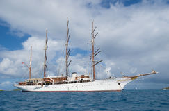 Sailing cruise ship Stock Photo