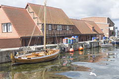 Sailing cutter Wismar Harbour Stock Image