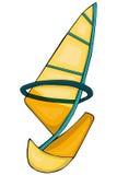 sailing De stijl van het beeldverhaal Klemkunst voor kinderen vector illustratie