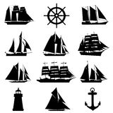 Sailing design elements stock illustration