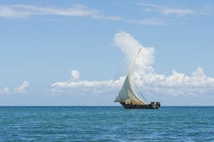Sailing dhow indian ocean Stock Images