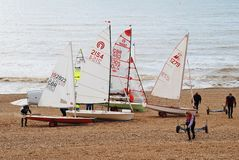 Sailing dinghies, St.Leonards-on-Sea Royalty Free Stock Photo