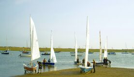 Sailing Dinghies in a summers day.