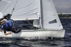 Sailing 420-2 stock photos