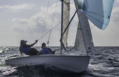 Sailing 420-4 stock photo