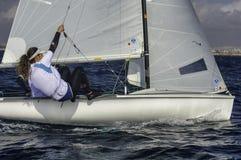 Sailing 420-12 Stock Image