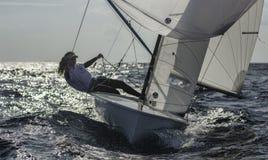 Sailing 420-13 stock photography