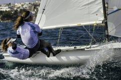 Sailing 420-14 royalty free stock photography