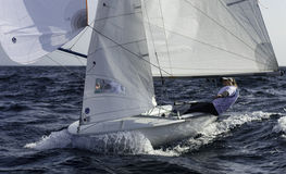 Sailing 420-17 Royalty Free Stock Photo