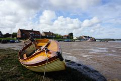 Wooden dinghy. Stock Photography