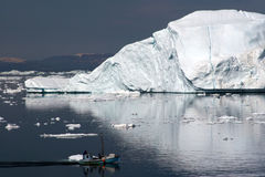 Sailing in the Disco Bay, Ilulissat. Greenland Stock Photography