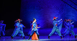 """Sailing dream-Dance drama """"The Dream of Maritime Silk Road"""". Dance drama """"The Dream of Maritime Silk Road"""" centers on the plot of two generations Royalty Free Stock Images"""