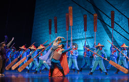"""Sailing dream-Dance drama """"The Dream of Maritime Silk Road"""". Dance drama """"The Dream of Maritime Silk Road"""" centers on the plot of two generations of a Royalty Free Stock Photo"""