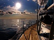 Sailing at Dusk royalty free stock photos