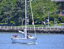 Sailing on East River Stock Photography
