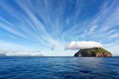 Sailing through Faroe Islands, Atlantic Ocean Royalty Free Stock Images
