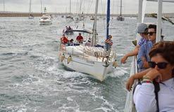 Sailing Fleet - Sailing boats And Yachts In Rough Sea Stock Photos