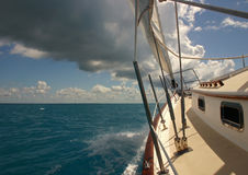 Sailing in the Florida Keys Royalty Free Stock Photo