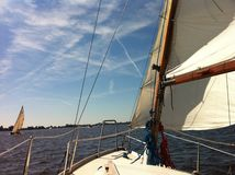 Sailing in Friesland Stock Photos