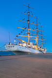 Sailing frigate in harbor of Gdynia, Poland Royalty Free Stock Photo
