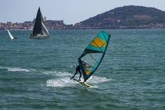 Sailing in Gaeta Stock Photo