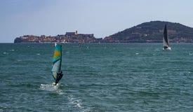 Sailing in Gaeta Stock Image