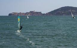Sailing in Gaeta Royalty Free Stock Image