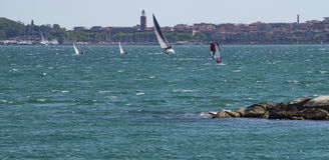 Sailing in Gaeta Royalty Free Stock Photo