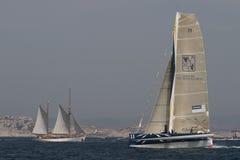 Sailing - Gitana 11 Trimaran Royalty Free Stock Images
