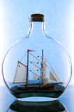 Sailing in  glass Royalty Free Stock Photo