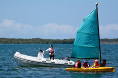 Sailing in Gold Coast Queensland Australia Royalty Free Stock Photos