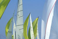 Sailing in Good Wind / sails background Stock Photos