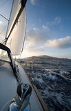 Sailing in Greece. Sailing around the Greek islands Royalty Free Stock Photo