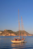 Sailing in Greece. Sailing yacht in the Ionian sea Greece Royalty Free Stock Images
