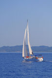 Sailing in Greece. Sailing yacht in the Ionian sea Greece Royalty Free Stock Photos