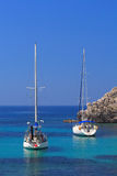 Sailing in Greece. Sailing yacht in the Ionian sea Greece Royalty Free Stock Image