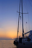 Sailing in Greece. Sailing yacht in the Ionian sea Greece Stock Photography