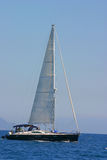 Sailing in Greece. Sailing yacht in the Ionian sea Greece Stock Photos